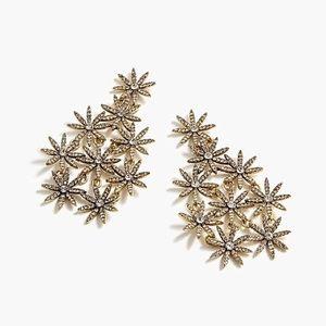 NWOW J Crew Pavé daisy chandelier earring